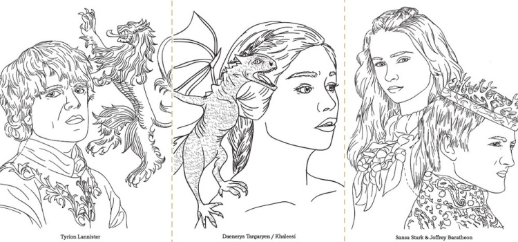 coloring pages game of thrones - photo#36